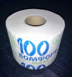 Туалетная бумага на втулке Комфорт maxi 100