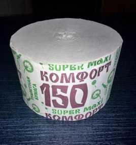 Туалетная бумага без втулки Комфорт super maxi 150