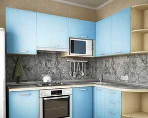 Кухня угловая фасад ЛДСП в кромке ПВХ