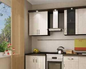 Кухня прямая фасад ЛДСП в кромке ПВХ