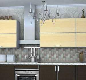 Кухня фасад ЛДСП в кромке алюминиевой