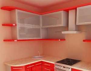 Кухня угловая фасад МДФ крашенный