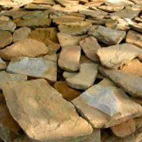 Песчаник бело-желтый, толщина 6-8 см