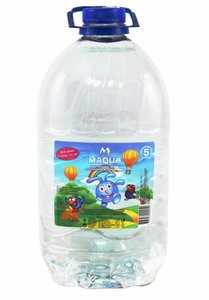 Вода питьевая негазированная 'MAQUA' 5,0 л для детей старше трех лет