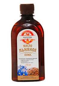 Масло льняное плюс Бета-каротин, БАД 250 мл