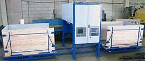Машина периодической заливки вспенивающегося пенополиуретана. Оборудование для производства пенополиуретанов