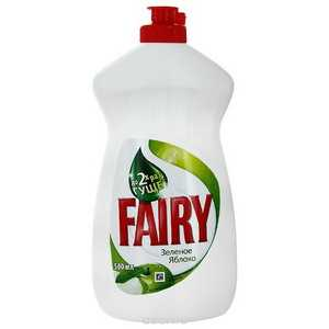 Средство для мытья посуды FAIRY 500мл Зеленое яблоко