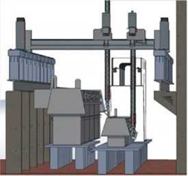 Портальная сварочная система для сварки нестандартных металлоконструкций KIBERYS
