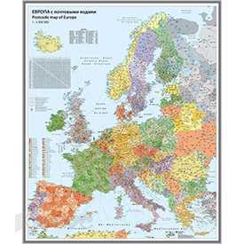 Карты настенные по квадратам и дорожной сети