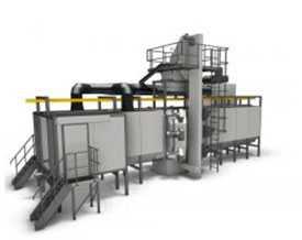 Автоматические проходные дробеструйные установки с подвесным конвейером