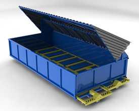 Бункер загрузочный с подвижным дном для линий механизированной подачи топлива УЖИМ 299.00.00.000