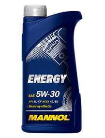 Масло моторное полусинтетическое MANNOL STAHLSYNT ENERGY SAE 5W-30 API SL/CF 1л
