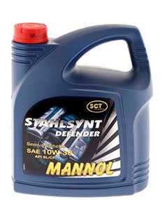Масло моторное полусинтетическое MANNOL STAHLSYNT DEFENDER SAE 10W-30 API SL/CF 4л
