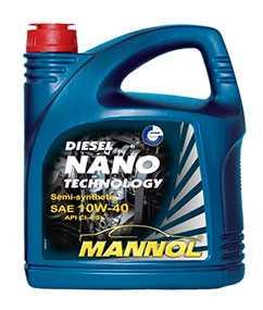 Масло моторное полусинтетическое MANNOL DIESEL NANO TECHNOLOGY SAE 10W-40 API CI-4/SL 5л