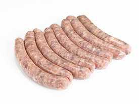 Колбаски сырые Свиные Особые, вакуум упак - НОВОФУДПЛЮС (Беларусь)