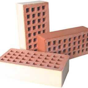 Кирпич керамический КЛПО-150 лицевой пустотелый одинарный, песочный