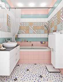Плитка керамическая Фристайл розовая