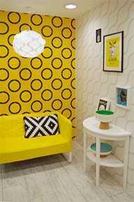 Плитка керамическая Лабиринт желтая