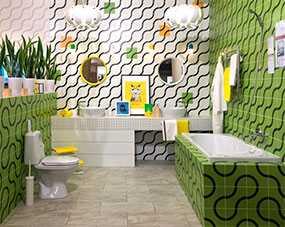 Плитка керамическая Лабиринт зеленая