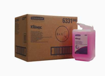 Жидкое мыло Kimberly-Clark Kleenex 6331 в кассетах - лосьон для рук (667 доз) 1 литр