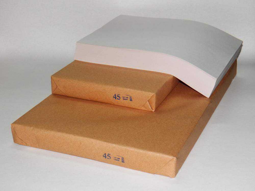 Газетная бумага А4, плотность 45 - 48 г/м2