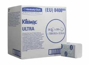 Туалетная бумага в пачках KLEENEX Ultra, двухслойная с тиснением