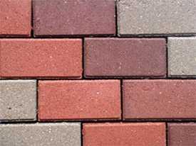 Тротуарная плитка прямоугольная типа Брусчатка 200х100х60