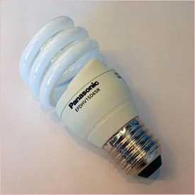 Лампа компактная люминесцентная энергосберегающая PANASONIC 15W COOL E27 EFDHV15D65R