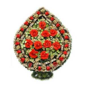 Корзина ритуальная из сухоцвета КР-9А
