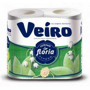 Туалетная бумага Veiro Floria 4 рулона в пачке