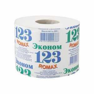 Туалетная бумага Эконом Ромакс - 230 г - Втулка