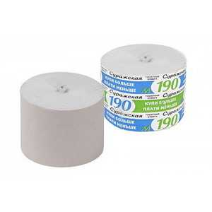 Туалетная бумага Суражская М-190 - 180 г - Без втулки