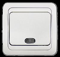 Выключатель 1кл с подсветкой CLASSICO белый 2121 ASD