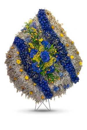 Венок ритуальный из сухоцвета ВР-5 в упаковке