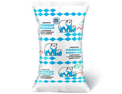 Мороженое Пломбир массовой долей жира 15% ванильный
