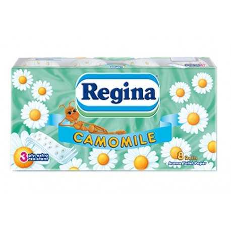 Туалетная бумага 3-хслойная Regina 8шт