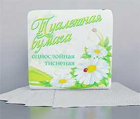 Бумага туалетная светлая по 50 шт. арт.9С1705 - ОАО Альбертин (Беларусь)
