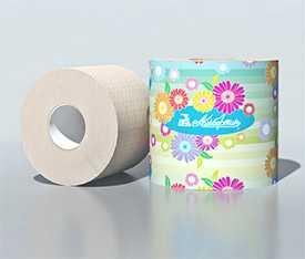 Бумага туалетная с гильзой 130 г. арт.7С6705 - ОАО Альбертин (Беларусь)