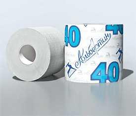 Бумага туалетная с гильзой светлая 40 м арт. 13С1705 - ОАО Альбертин (Беларусь)