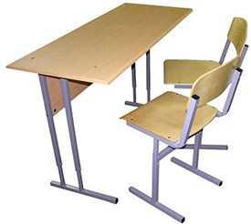 Комплект ученический двухместный с регулируемой высотой