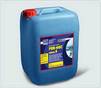 Кислотное моющее средство РОМ-ФОС, марки А (жидкость) - ЭКОХИММАШ