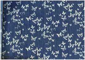 Ткань джинсовая Джинса Бабочки