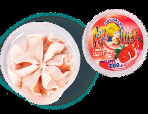 Мороженое семейное в стакане Антошка с клубничным джемом