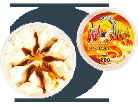 Мороженое семейное в стакане Антошка с наполнителем карамель