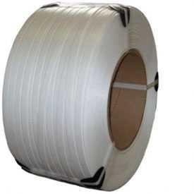Стреппинг-лента 12мм*0,5мм*3000м, лента полипропиленовая, белая, в стретче