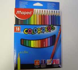 Карандаши цветные 18шт. COLOR PEPS MAPED