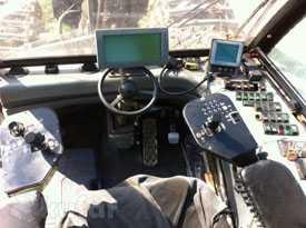 Самоходная многооперационная лесосечная машина на гусеничной базе Харвестер Тимберджек 1270В