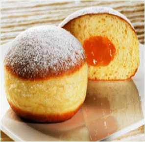 Дрожжевой пончик с фруковой начинкой
