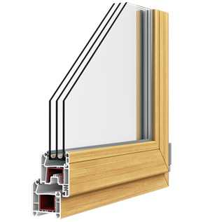 Окна ПВХ из профиля PLAFEN трехкамерная система L-LINE
