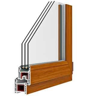 Окна ПВХ из профиля PLAFEN четырехкамерная система E-LINE